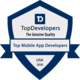 TopDevelopers.co Badge for Top Mobile App Development Company