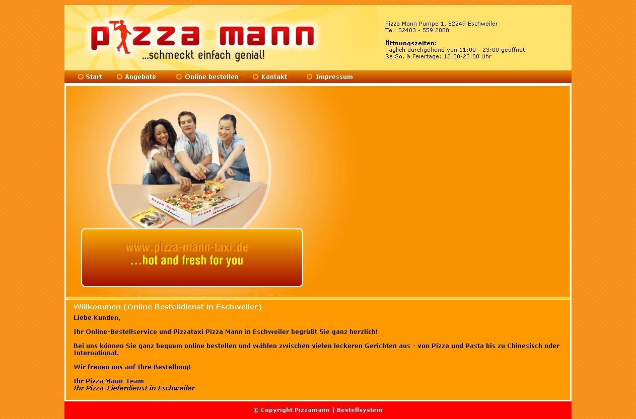 pizza bestellen eschweiler, Magento Webshop