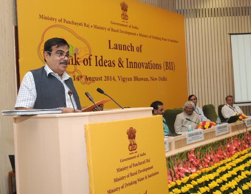 Union Minister Shri Nitin Gadkari at ruralinnovations.in inauguration
