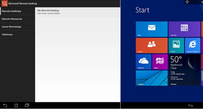Microsoft Remote Desktop android app
