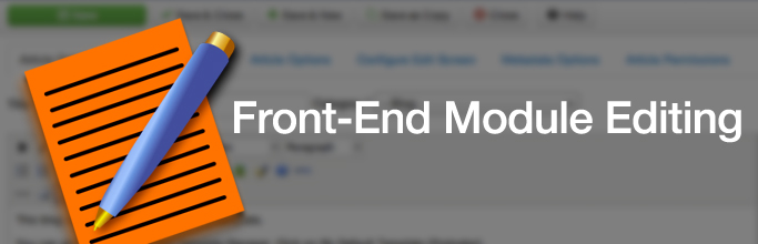 Front-End Module Editing in Joomla 3.4