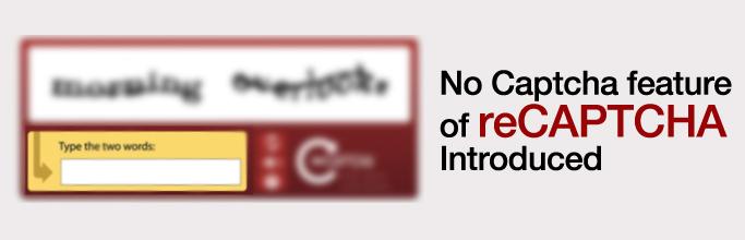 reCAPTCHA Introduced in joomla 3.4