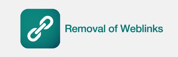 Removal of Weblinks in Joomla 3.4