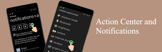 Action Center and Notifications