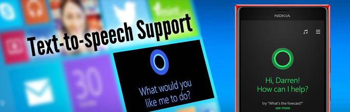 Text-to-speech Support