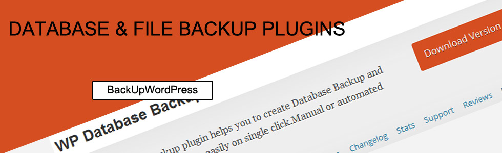 WordPress Database File Backup Plugins