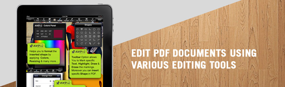 Edit PDF Documents using various Editing Tools