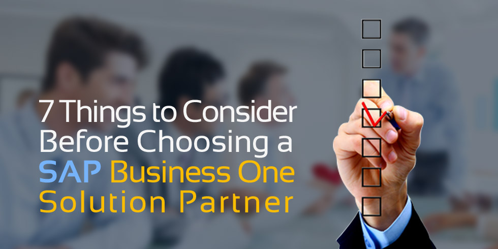 SAP Business One Solution Partner