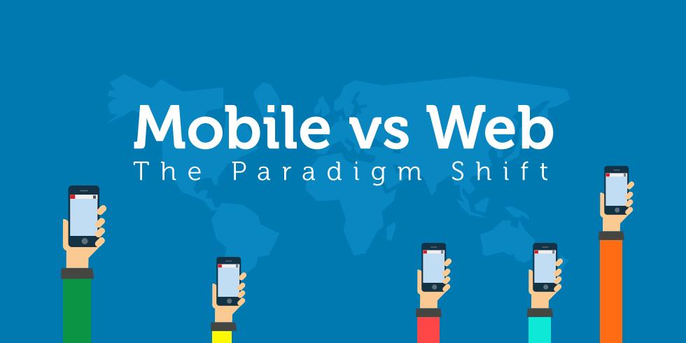 Mobile vs Web - The Paradigm Shift Infographic