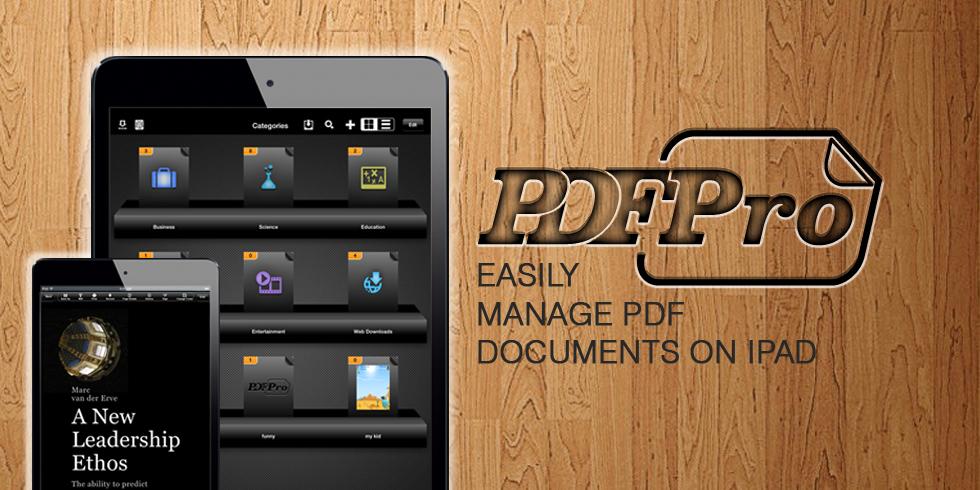 PDFPro – Easily Manage PDF Documents on iPad