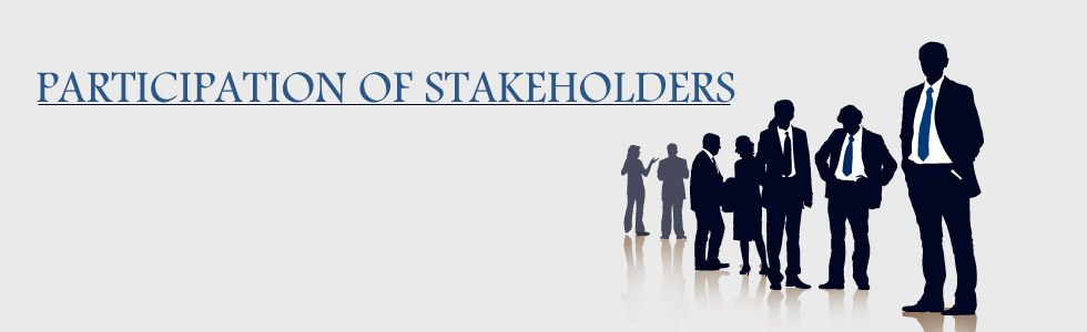 Participation of Stakeholders