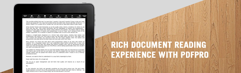 Rich Document Reading Experience with PDFPro