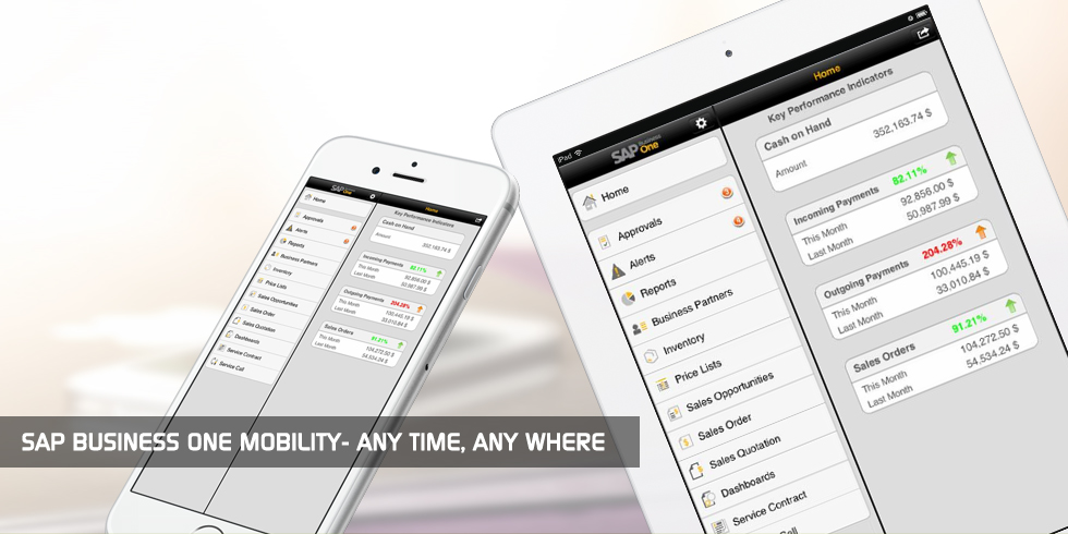 SAP Business One Mobility - ANY TIME, ANY WHERE