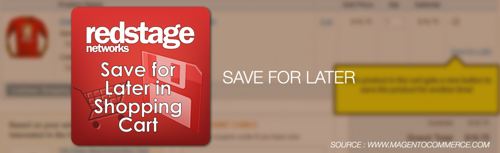 Save For Later Magento Extension