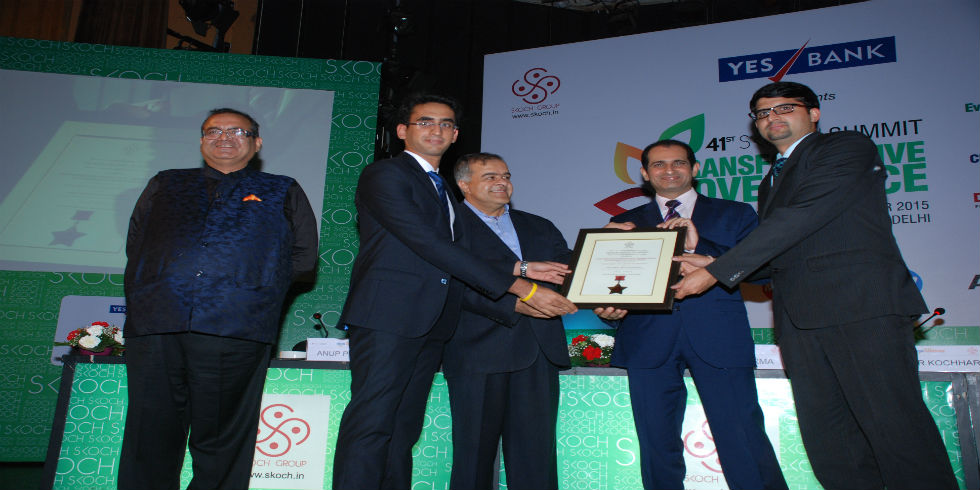 """Aaple Sarkar"" Bags the Smart Governance Award at Skoch Awards"