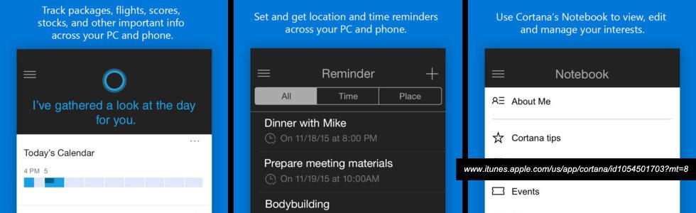 Cortana ios app