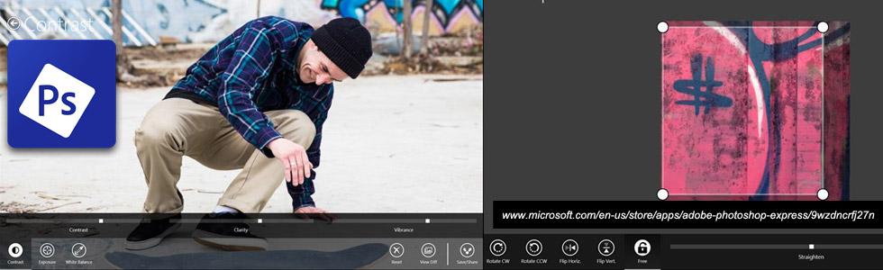 Adobe Photoshop Express Windows Mobile App