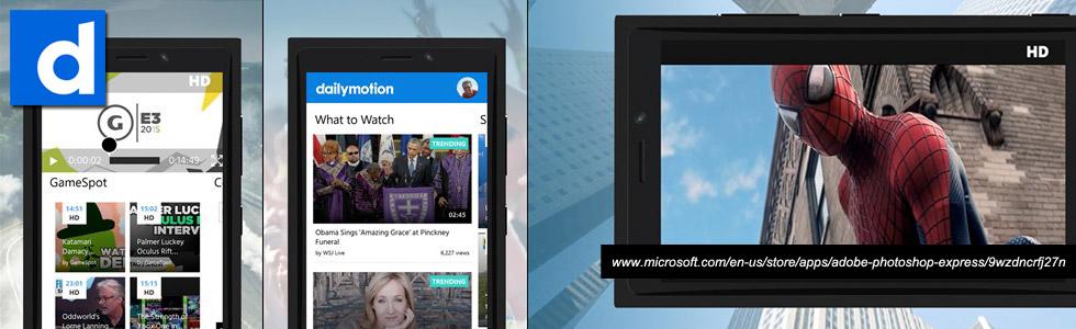 Dailymotion Windows Mobile App