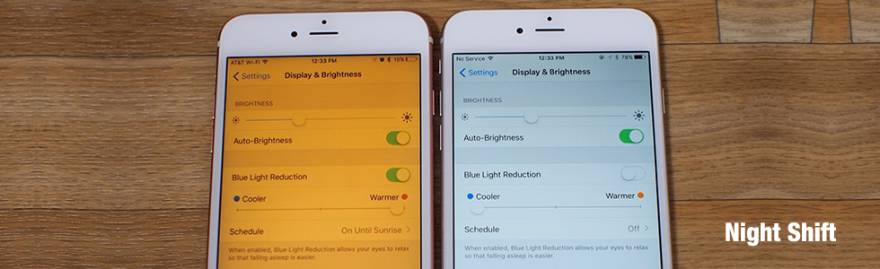 night shift ios 9.3 new features