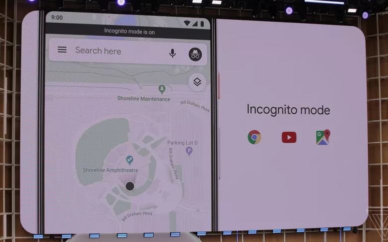 incognito mode in gmaps