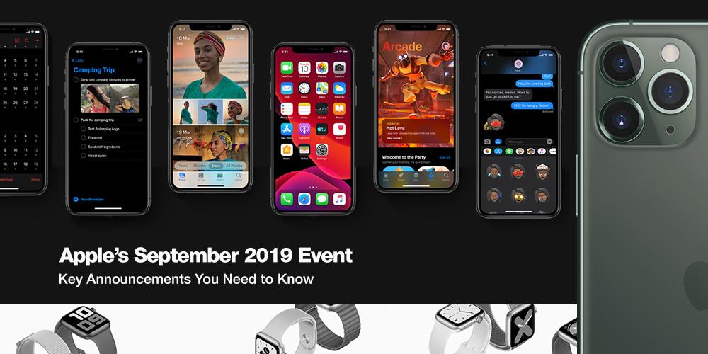 Apple's September 2019 Event