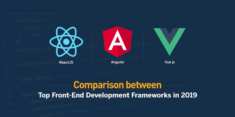 Comparison between Top Front End Development Frameworks